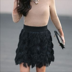 Banana Republic Black Fringe Skirt